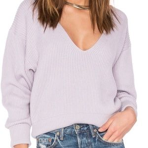 Free People Lavender Allure Pullover Sweater M